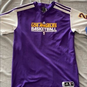 lakers warm up shirt/jersey. kobe bryant
